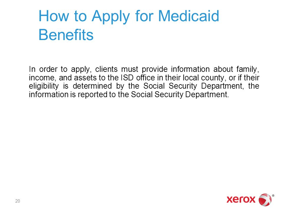 How to Apply for Medicaid Benefits