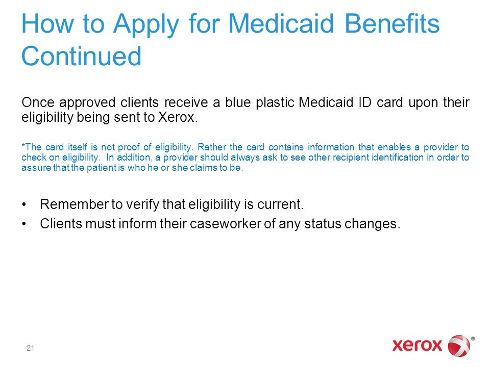 How to Apply for Medicaid Benefits Continued