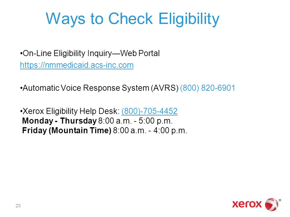 Ways to Check Eligibility