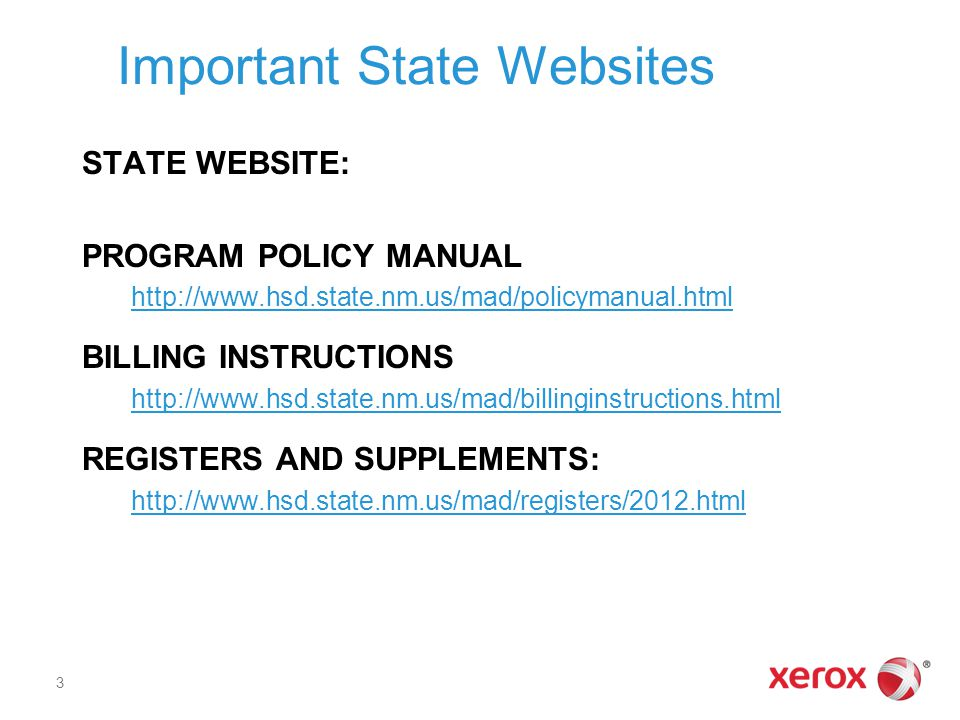 Important State Websites