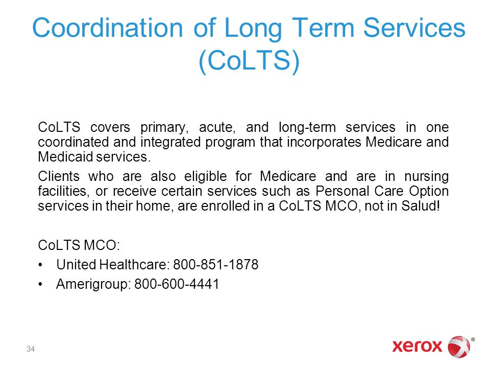 Coordination of Long Term Services (CoLTS)