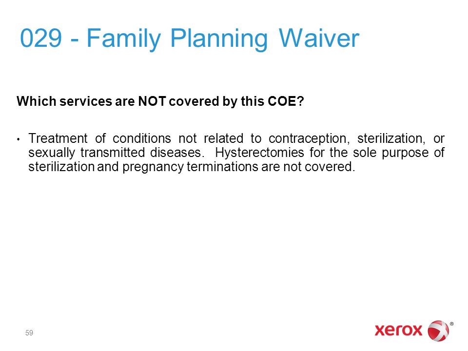 029 - Family Planning Waiver