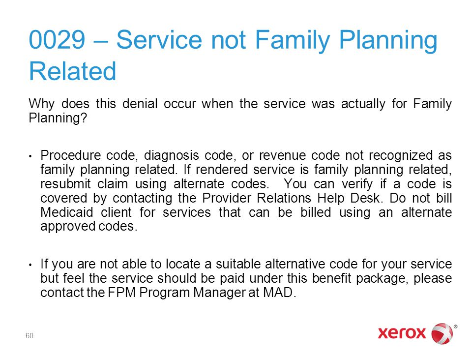 0029 – Service not Family Planning Related