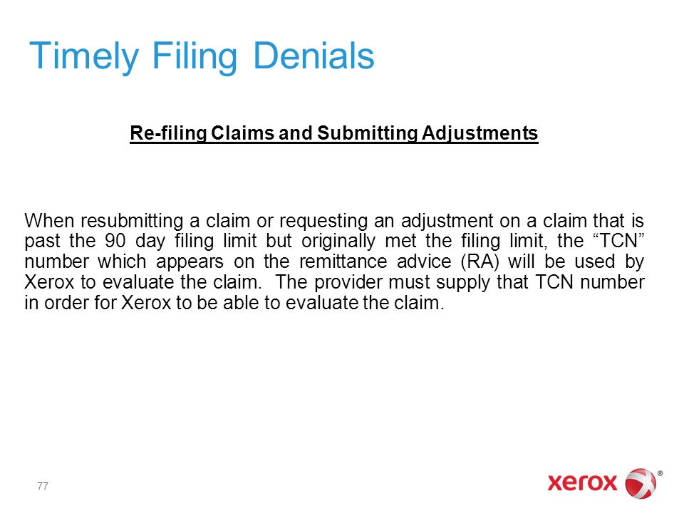Timely Filing Denials