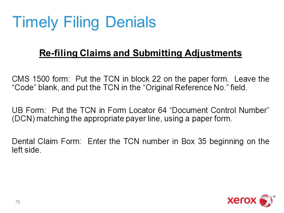 Re-filing Claims and Submitting Adjustments