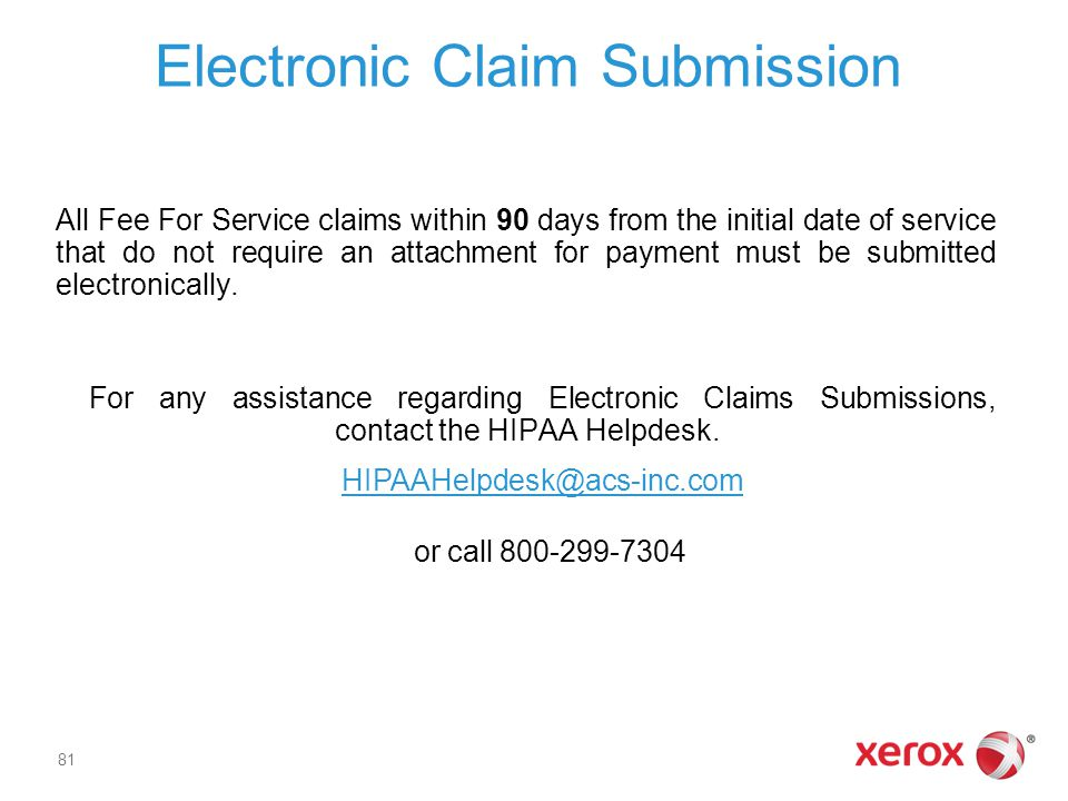 Electronic Claim Submission