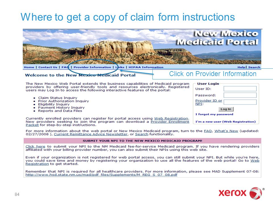 Where to get a copy of claim form instructions