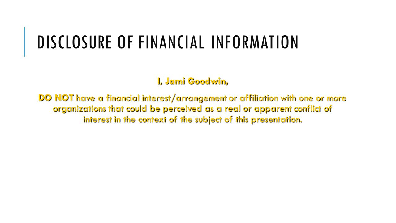 Disclosure of financial information