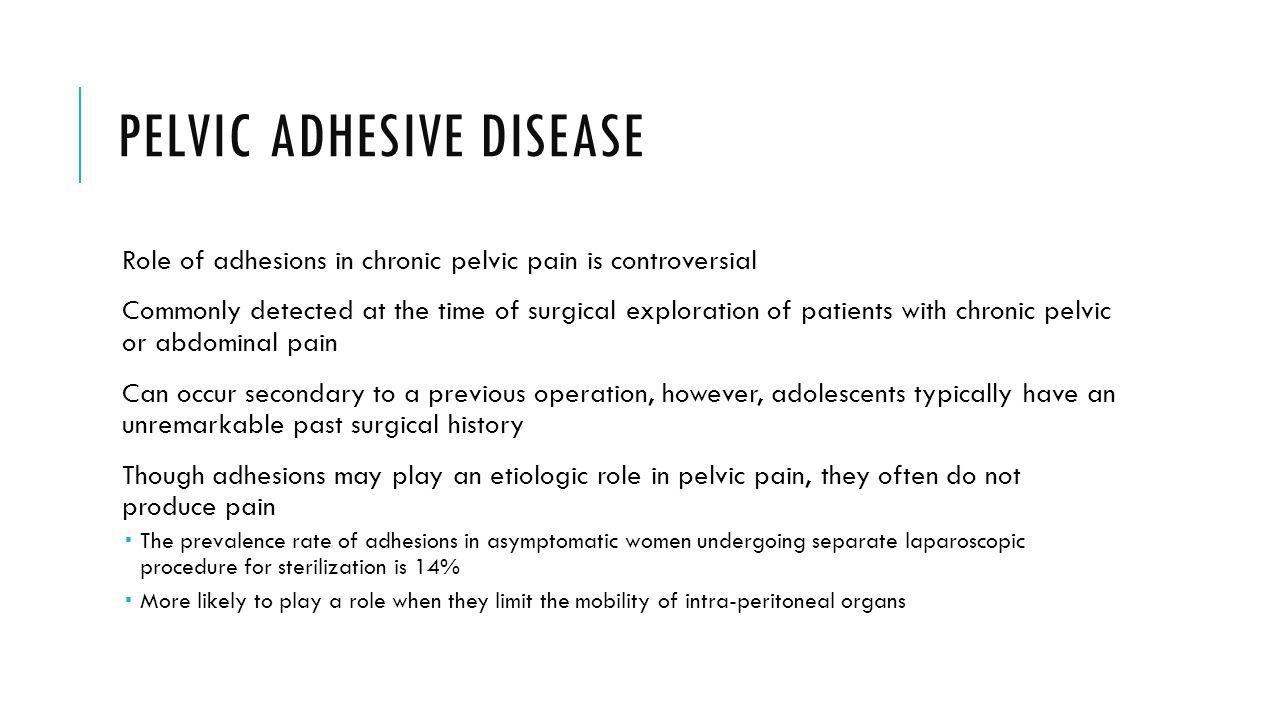 Pelvic adhesive disease