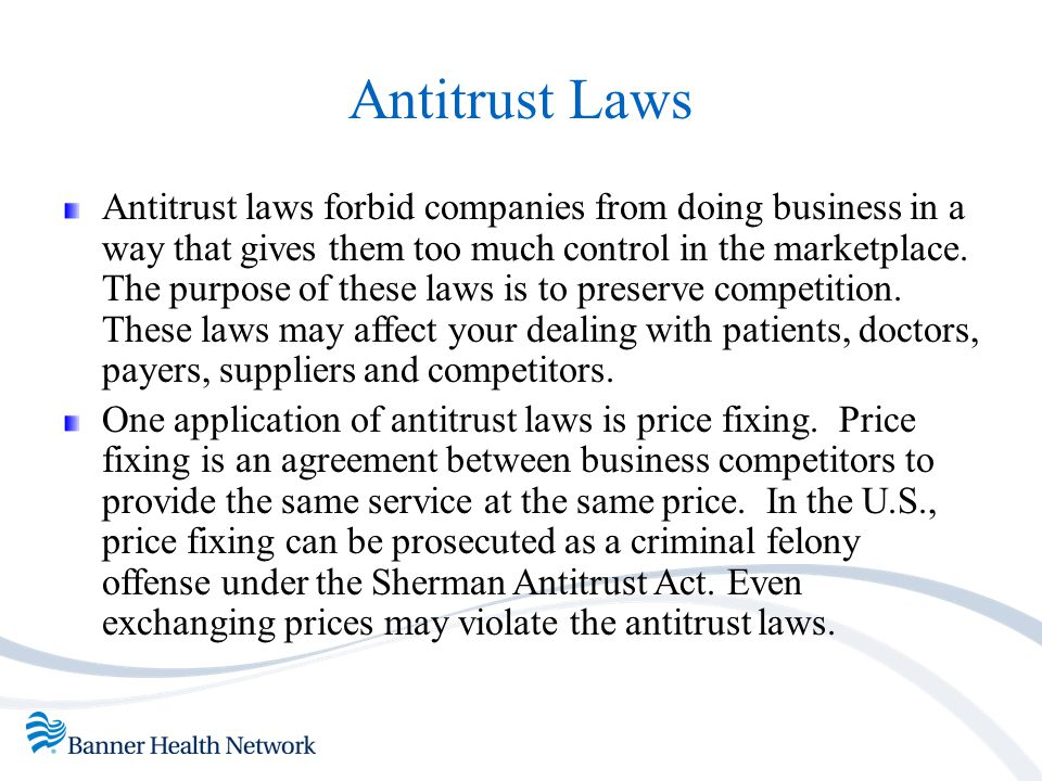Antitrust Laws