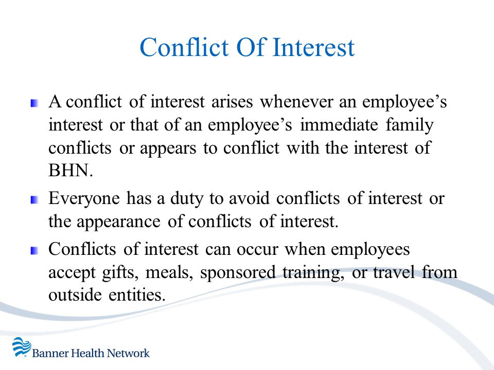 conflict of interest in the workplace relationship