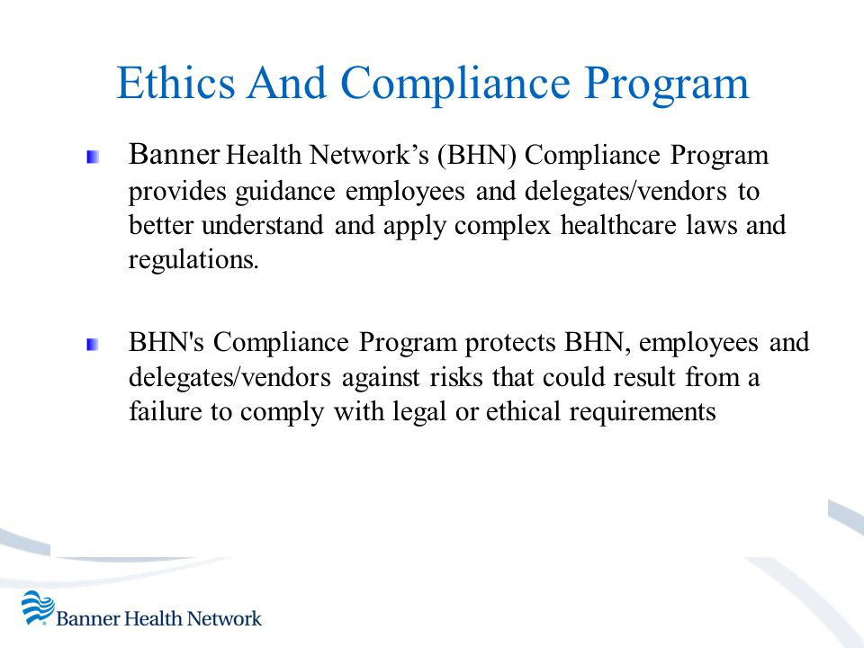 Ethics And Compliance Program