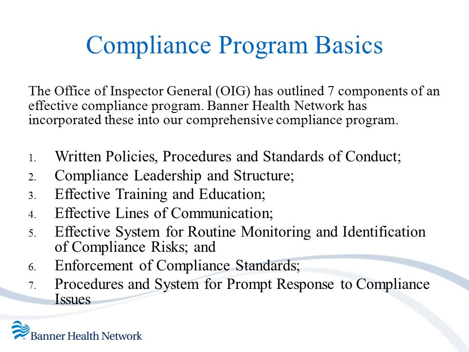 Compliance Program Basics