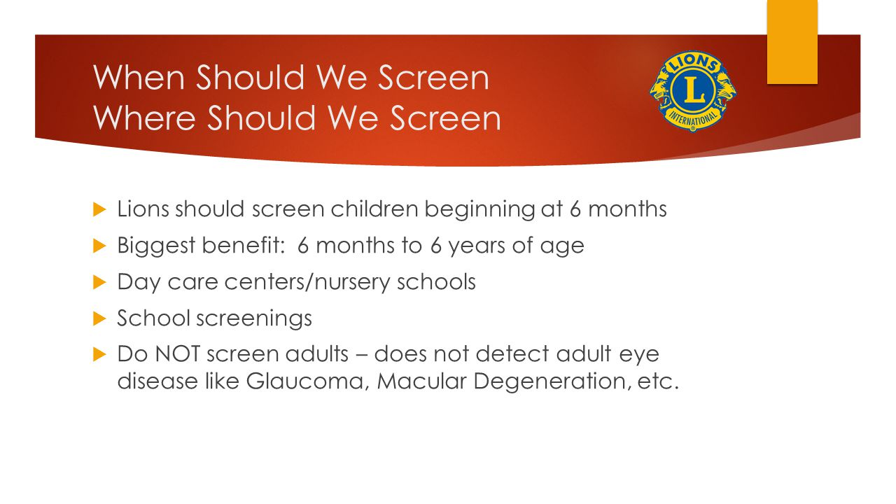 When Should We Screen Where Should We Screen