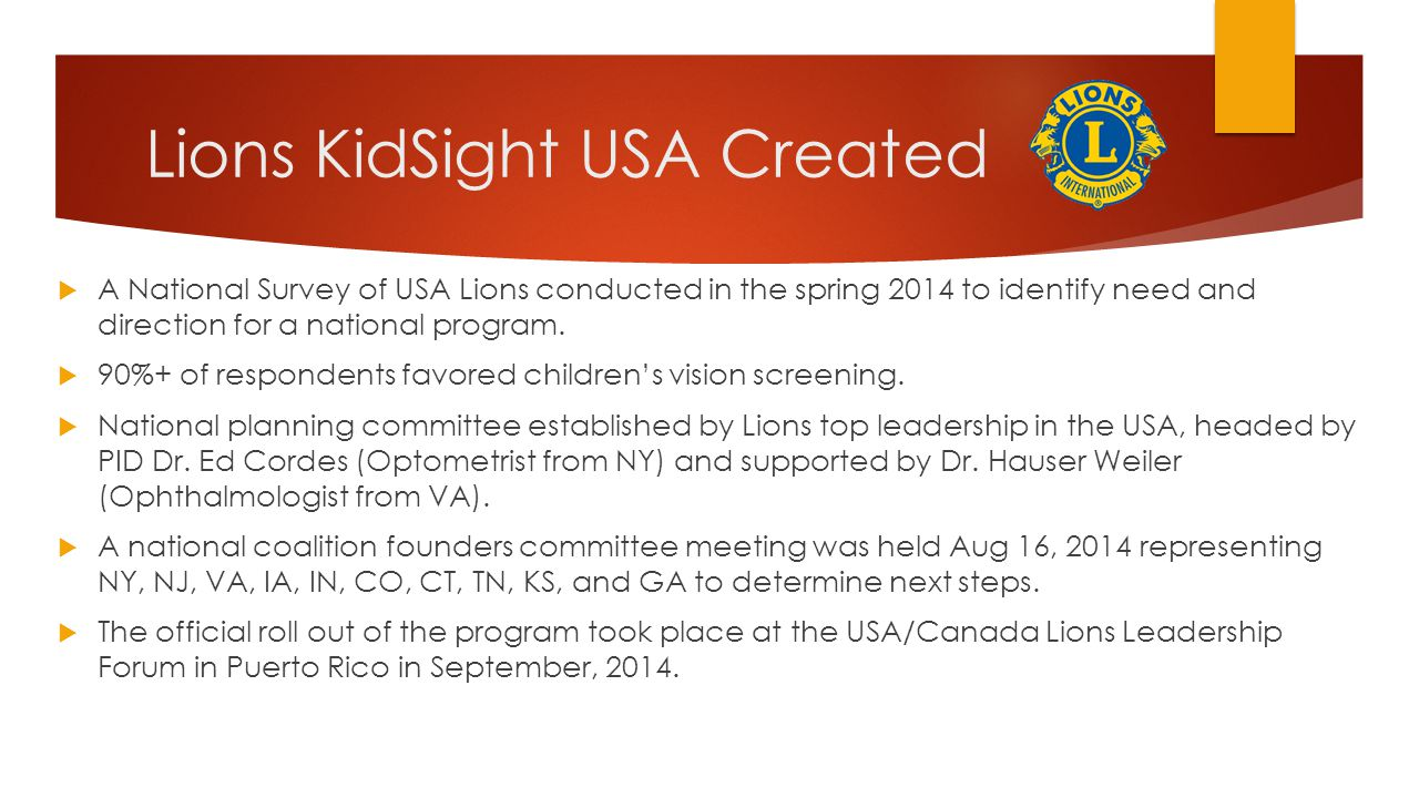 Lions KidSight USA Created