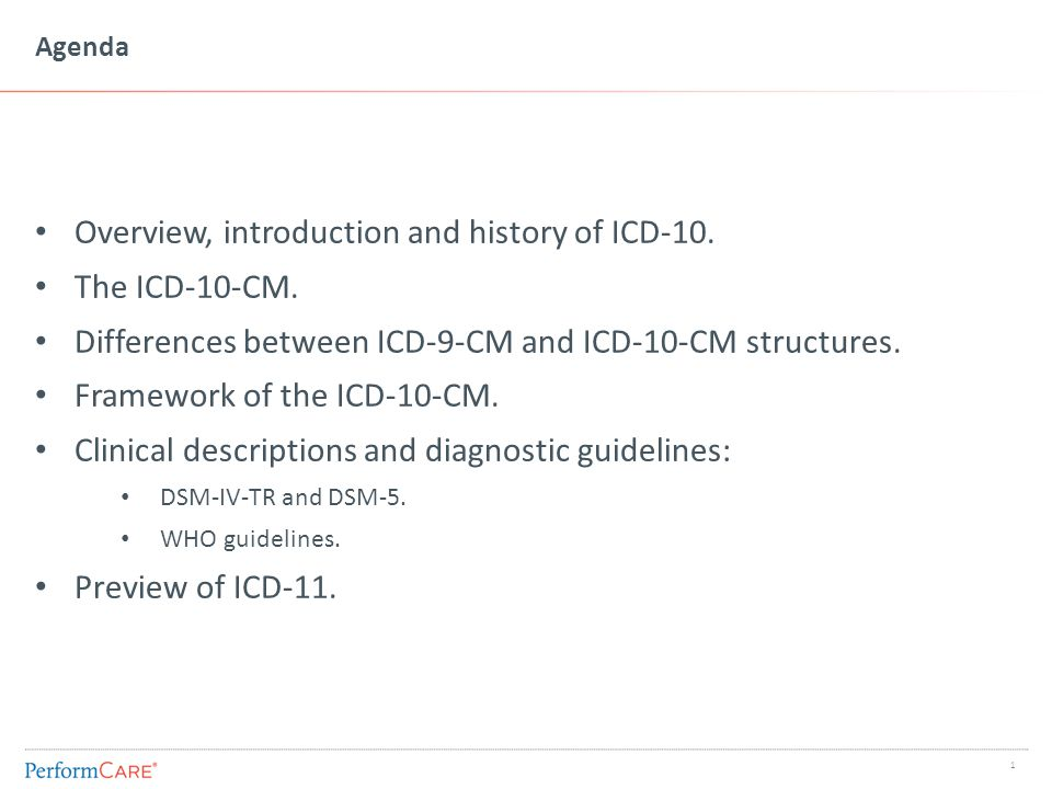 ICD-9 History and Overview