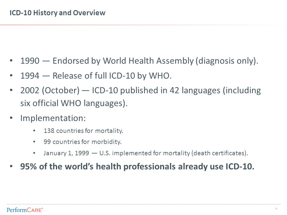 Countries Using ICD-10 For Reimbursement or Case Mix