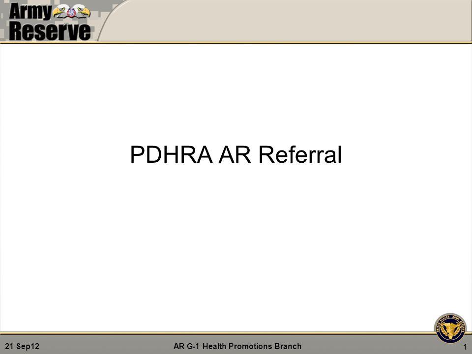 PDHRA AR Referral