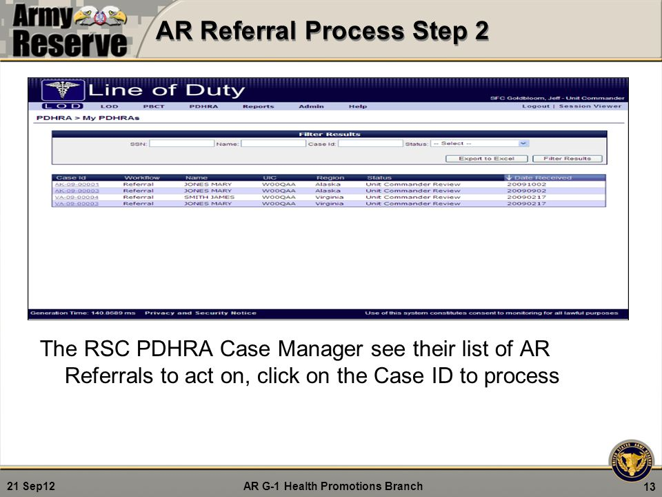 AR Referral Process Step 2