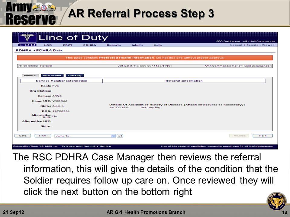 AR Referral Process Step 3