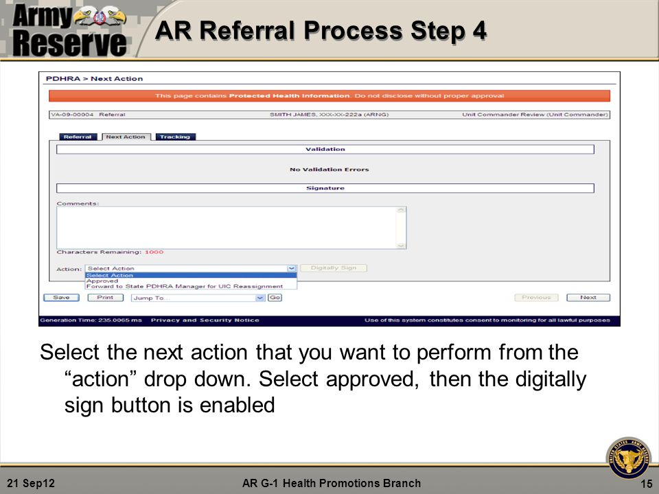 AR Referral Process Step 4