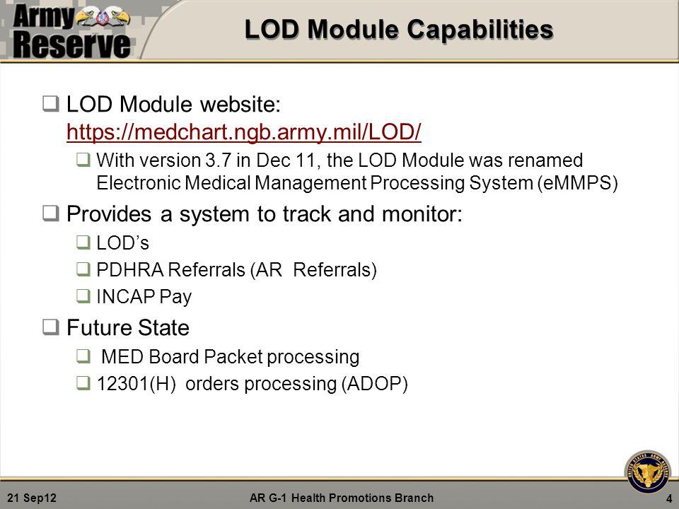 LOD Module Capabilities