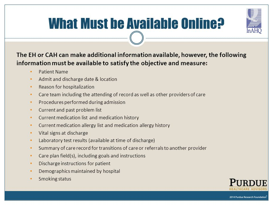 What Must be Available Online