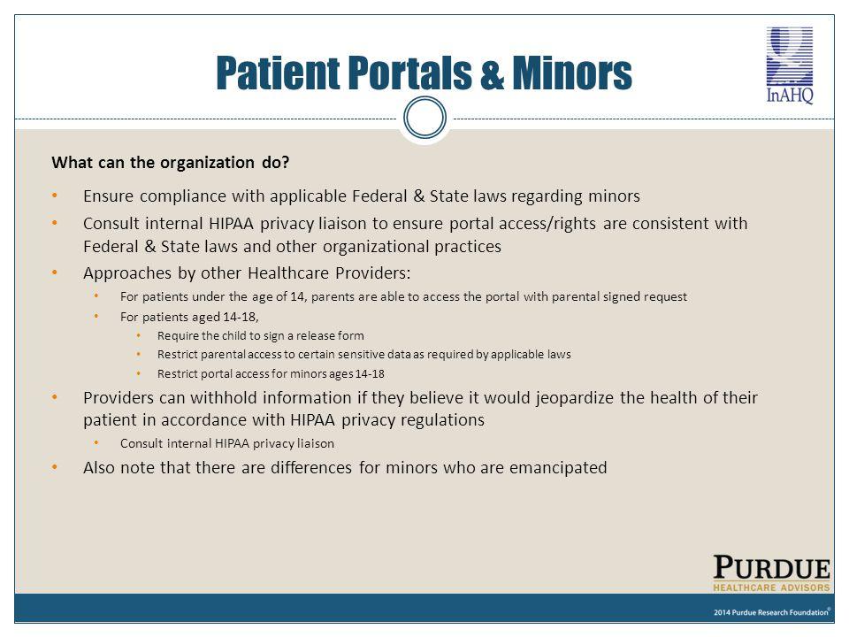 Patient Portals & Minors