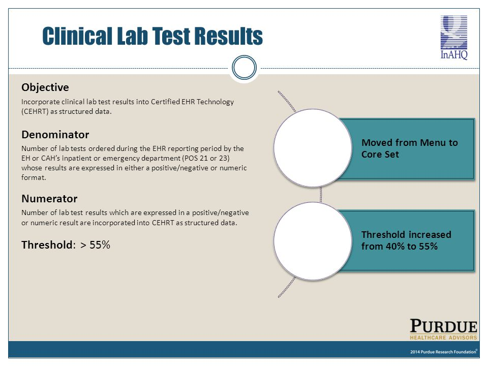 Clinical Lab Test Results