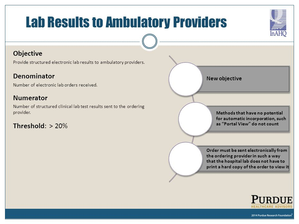 Lab Results to Ambulatory Providers