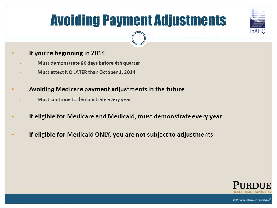 Avoiding Payment Adjustments