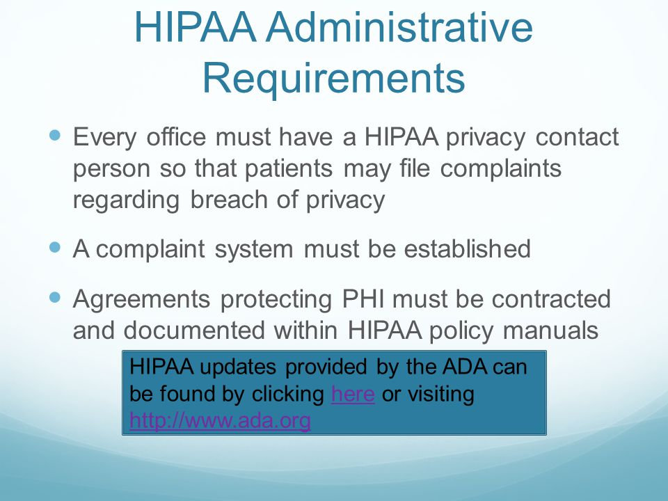 HIPAA Administrative Requirements