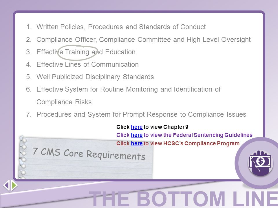 Written Policies, Procedures and Standards of Conduct