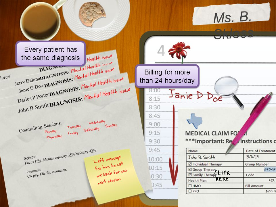 Ms. B. Skloss Every patient has the same diagnosis