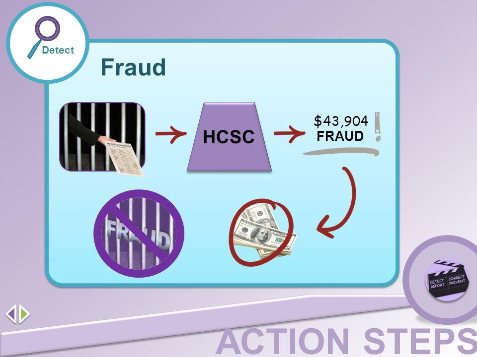 Fraud FRAUD HCSC $43,904 FRAUD Detect