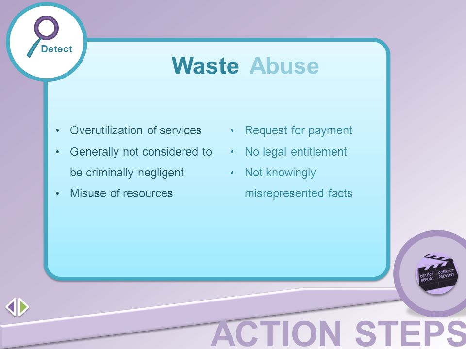 Waste Abuse Overutilization of services