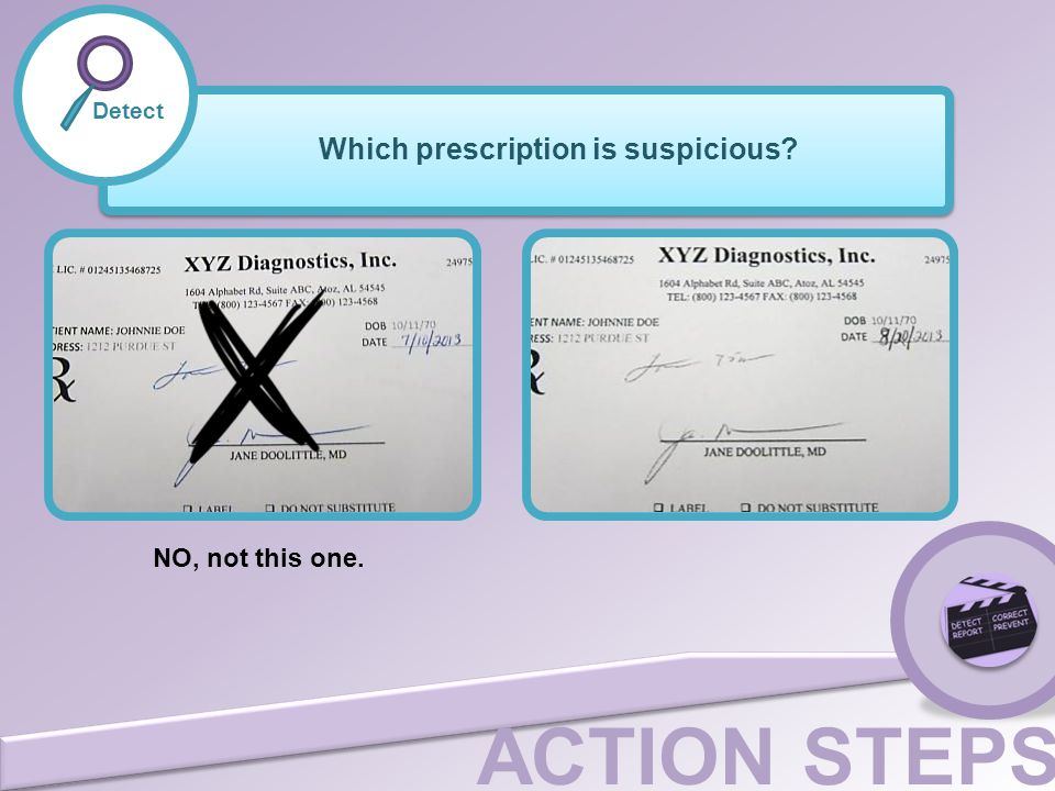 Which prescription is suspicious