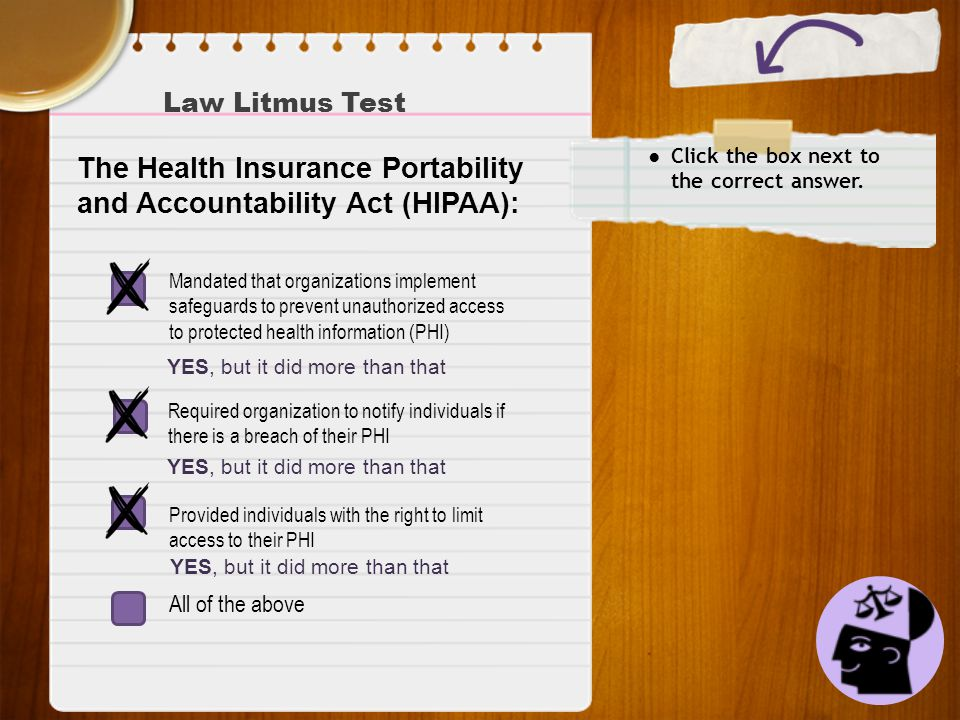 The Health Insurance Portability and Accountability Act (HIPAA):