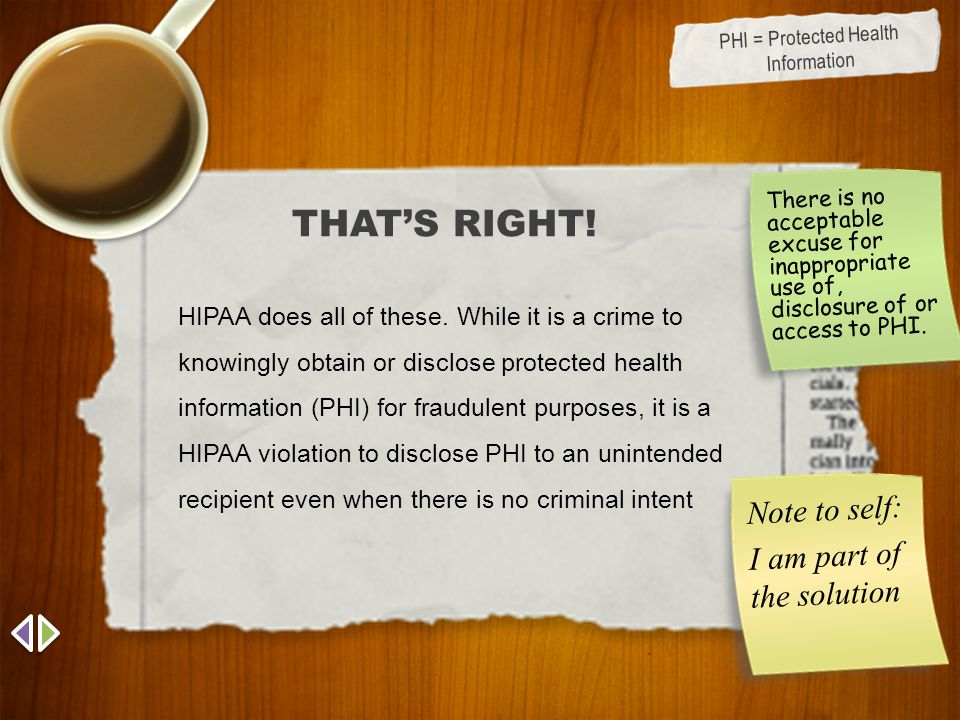 PHI = Protected Health Information