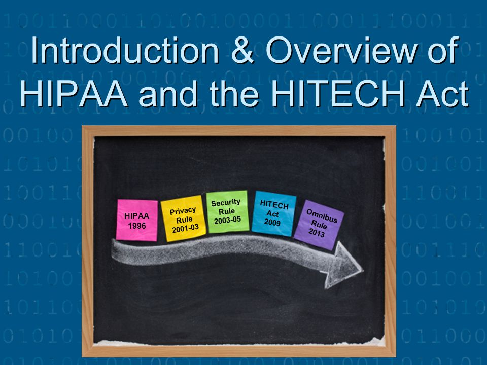 Introduction & Overview of HIPAA and the HITECH Act