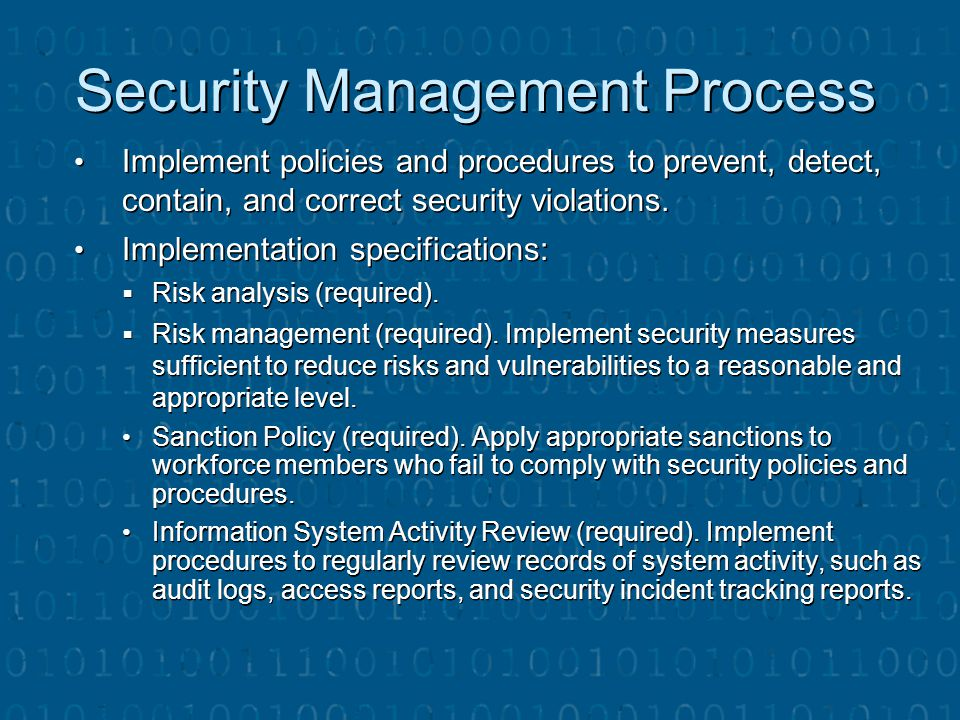 Security Management Process