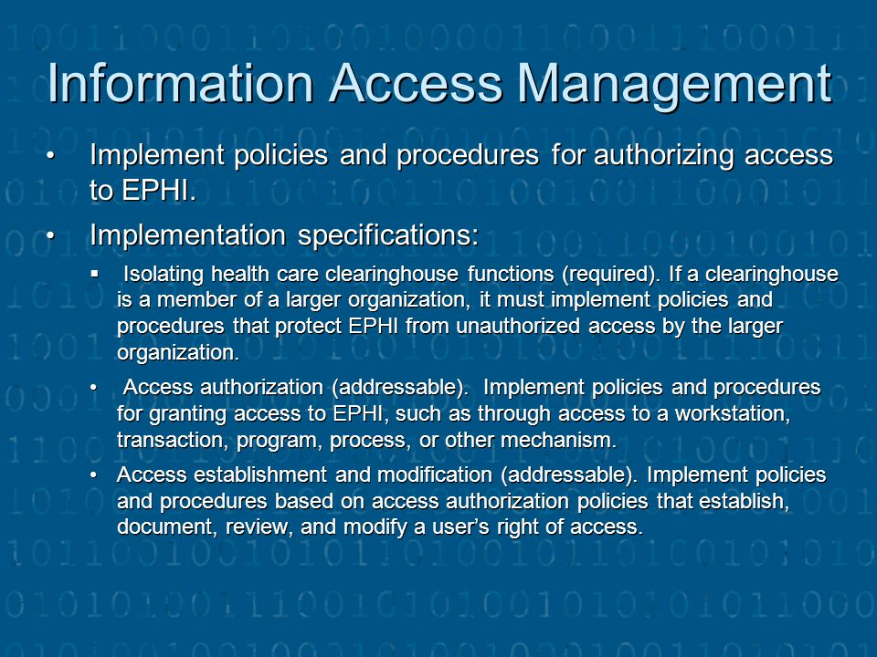Information Access Management