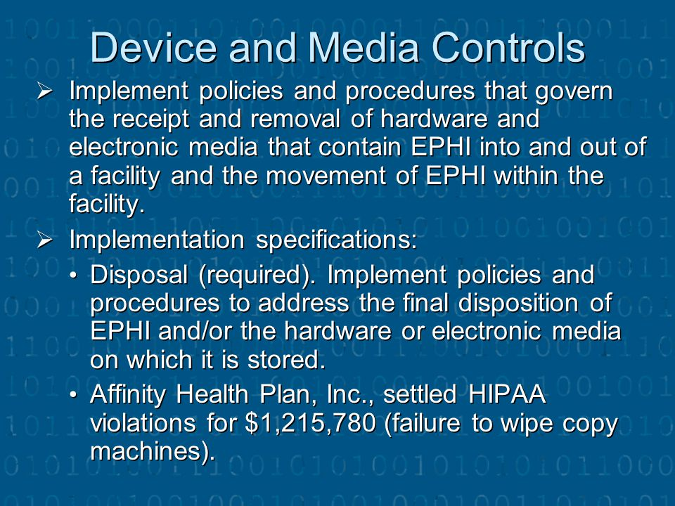 Device and Media Controls