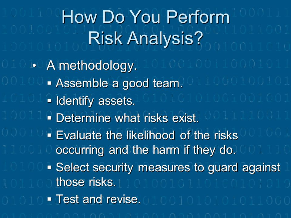 How Do You Perform Risk Analysis
