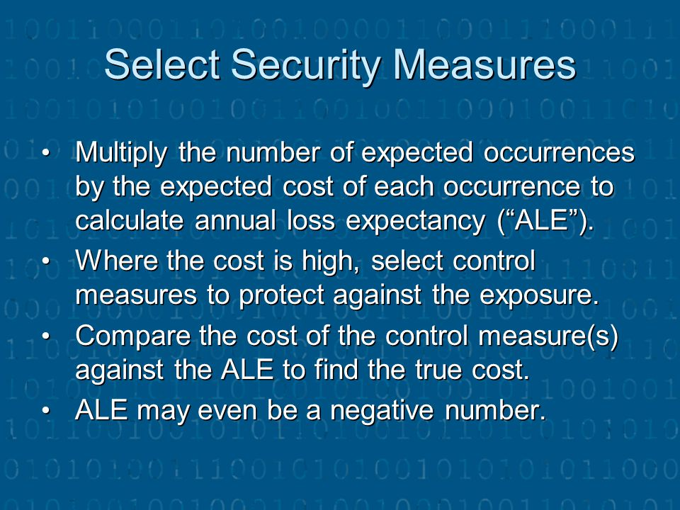 Select Security Measures