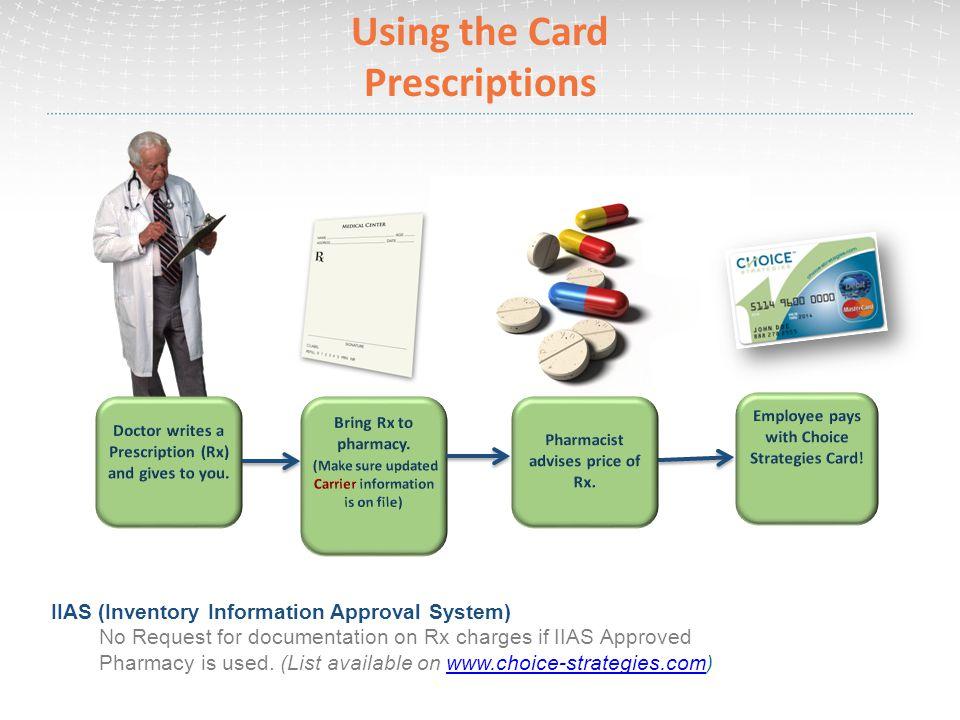 Using the Card Prescriptions
