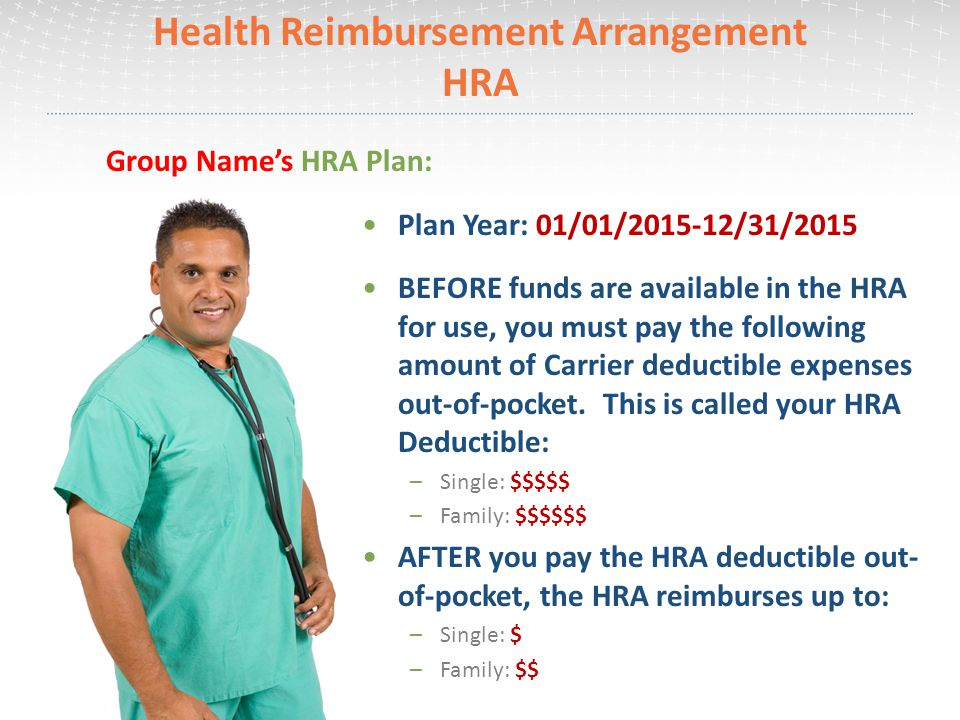 Health Reimbursement Arrangement HRA