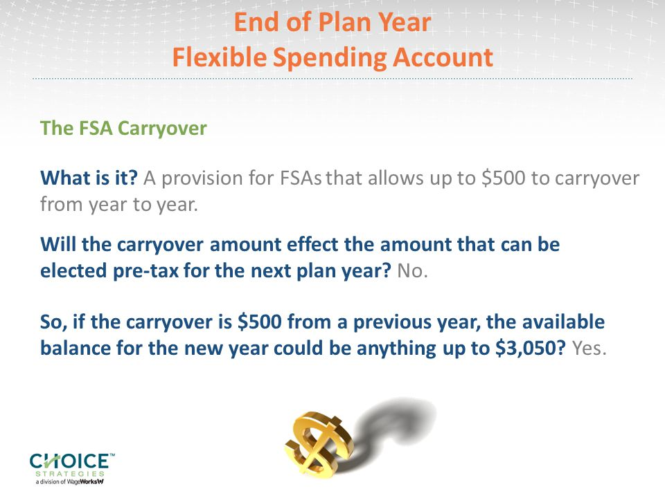 End of Plan Year Flexible Spending Account