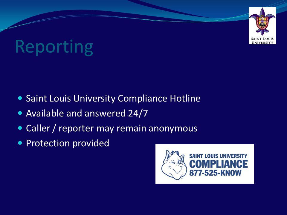 Reporting Saint Louis University Compliance Hotline