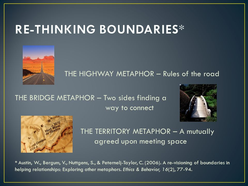 RE-THINKING BOUNDARIES*